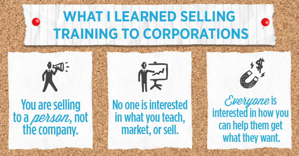 What I learned sell to corporate