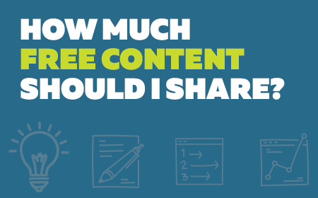 How much free content should I share?