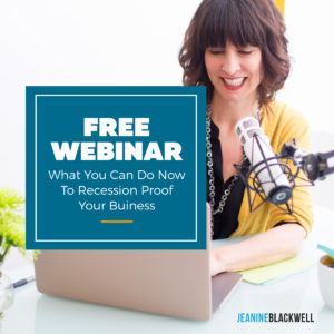 Free Webinar - Recession Proof Your Business
